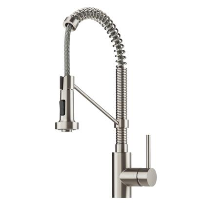 Spot Free Bolden Series KPF-1610SFS-KSD-43SFS 18-Inch Commercial Kitchen Faucet with Soap Dispenser in all-Brite Stainless Steel
