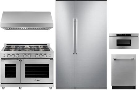 Dacor Modernist 1168256 Kitchen Appliance Package Stainless Steel, main image