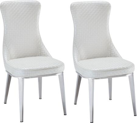 ESF Modern 6138CHAIR Dining Room Chair White, 1