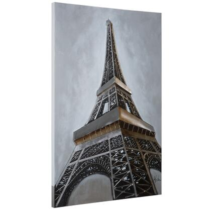 Original Painting Collection DCB229A Eiffel Revealed 31.5″ x 47.5″ Acrylic Painting in Multi
