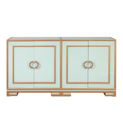 D303-100 Four Door Reverse Painted Glass Console