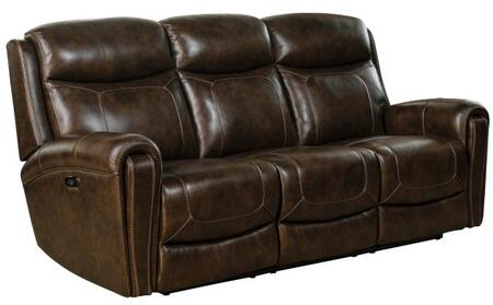 Malibu Collection 39PH3641371386 Power Reclining Sofa with Power Head Rests and Leather Match Upholstery in Tri-Tone
