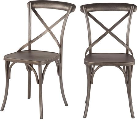 World Interiors Anderson ZWAND032X Dining Room Chair Gray, ZWAND03 Front