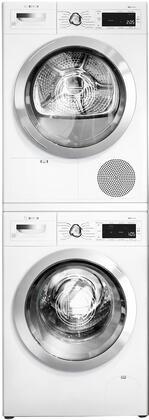 Bosch 800 Series 1329658 Washer & Dryer Set White, 1