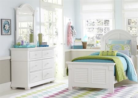 Liberty Furniture Summer House 607BRFPBDM Bedroom Set White, Main Image
