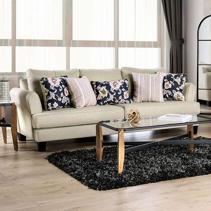 Furniture of America Denbigh SM1281SF Stationary Sofa Beige, SM1281-SF Main