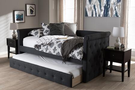 Baxton Studio 141.1 lbs. CF8825DARKGREYDAYBED Bed Gray, CF8825 Dark%20Grey Daybed 9
