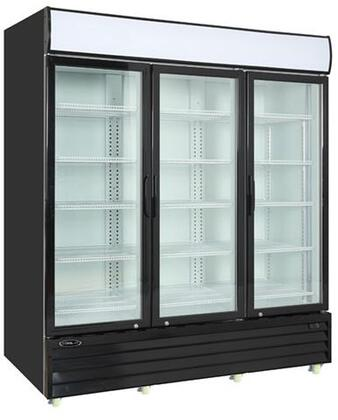 KGM-75 79″ Glass Door Refrigerator with 73 cu. ft. Capacity  Digital Temperature Display and LED Lighting  in