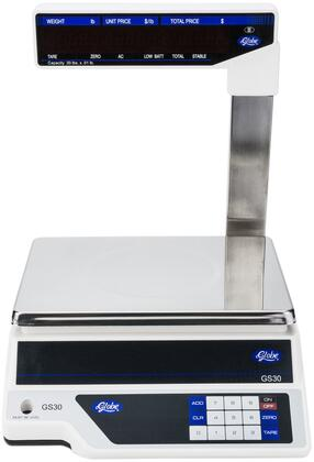 Globe GS30T Small Commercial Appliance White, Scale with Tower