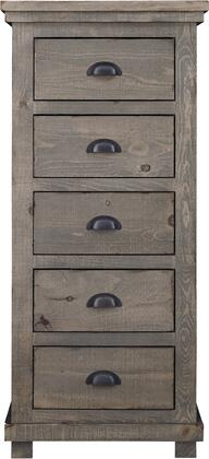Willow Collection 24″ P635-13 Lingerie Chest with 5 Drawers of Storage and Nostalgic Cup Pulls  Hand Applied Distressing in Weathered