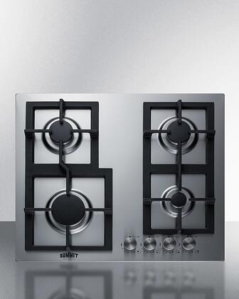 Summit  GCJ4SS Gas Cooktop Stainless Steel, GCJ4SS 4 Burner Gas Cooktop
