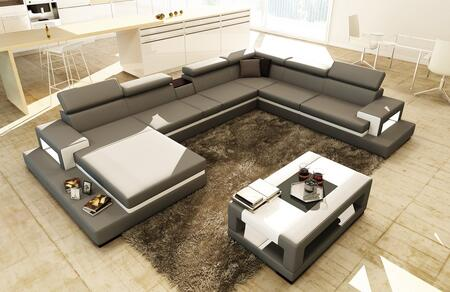 Vig Furniture Sectional Sofa Vgev5081 Grey Appliances Connection