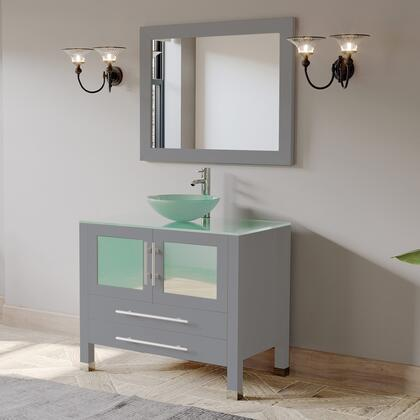 8111B-G Complete 36″ Vanity Set with Polished Chrome