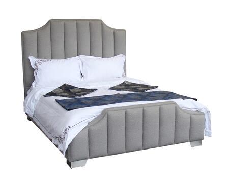 Armen Living Camelot LCCTBEBR Bed Gray, LCCTBEBR