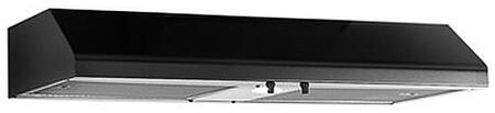 Imperial Slim Baffle N1936BPSBBL Under Cabinet Hood Black, Main Image