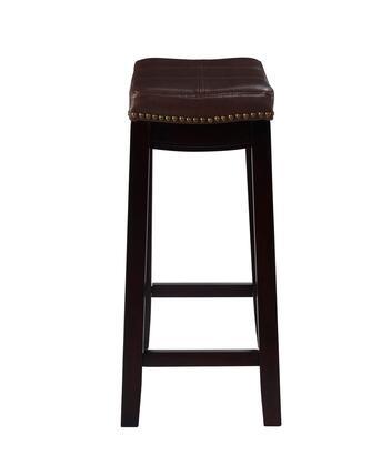 Linon Claridge 55815BRNPU01KDU Bar Stool, 55815BRNPU 01 KD U Side Silo
