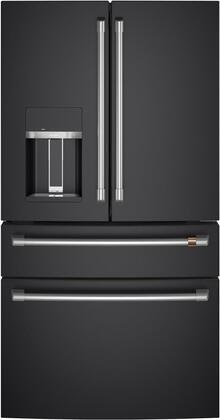 Cafe  CVE28DP3ND1 French Door Refrigerator Black, Front View