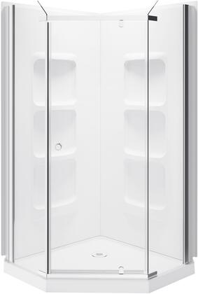 SK-NA38 Nevada  Neo Angle Shower Enclosure Kit With Acrylic Base and Walls  in