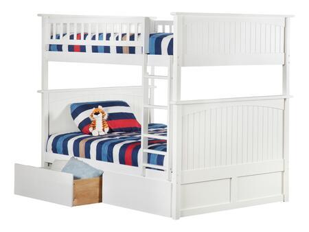 Atlantic Furniture Nantucket AB59542 Bed White, AB59542 SILO BD2 30