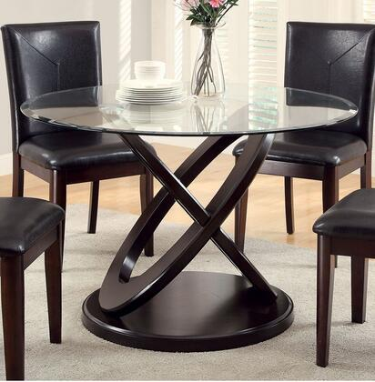 Furniture of America Atenna I CM3774TTABLE Dining Room Table Brown, main image
