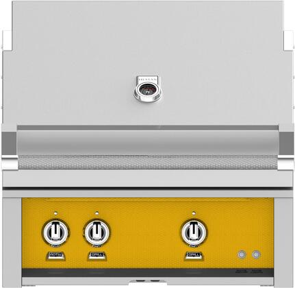 Hestan GMBR30LPYW Liquid Propane Grill Yellow, Front View