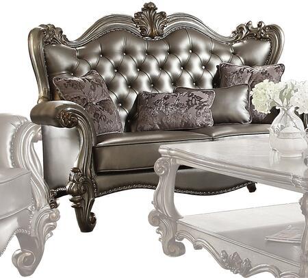 Acme Furniture Versailles 56821 Loveseat Silver, Loveseat