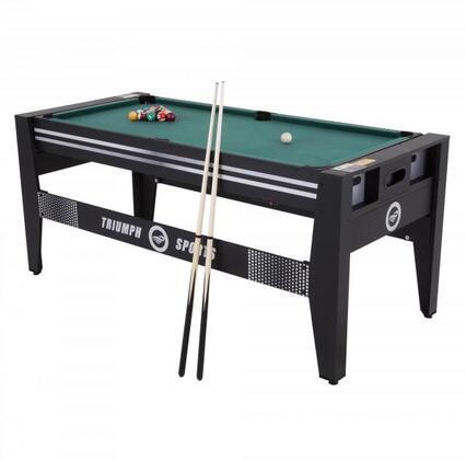 45-6065 72″ 4-IN-1 Multi Game Swivel Table (Table Tennis   Air Hockey   Billiard   Table Football) with Adjust Table