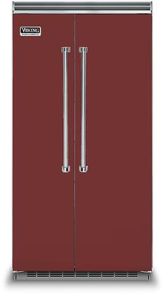 Viking 5 Series VCSB5423RE Side-By-Side Refrigerator Red, VCSB5423RE Side-by-Side Refrigerator