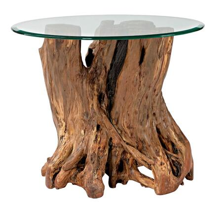 Hidden Treasures Collection 090-556R Root Ball End Table in Light