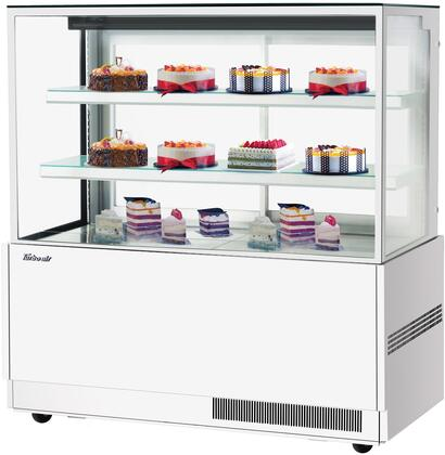 Turbo Air TBP6054NNW Display and Merchandising Refrigerator White, TBP6054NNW Angled View