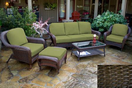 Tortuga Sea Pines LEX651TX Outdoor Patio Set Brown, 1