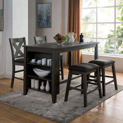 Furniture of America Lana CM3153GYPTSCST5PCSET Dining Room Set Gray, Main Image