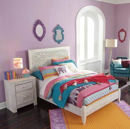 Signature Design by Ashley Paxberry B181FPBBEDROOMSET Bedroom Set White, B181FPBBEDROOMSET Main View