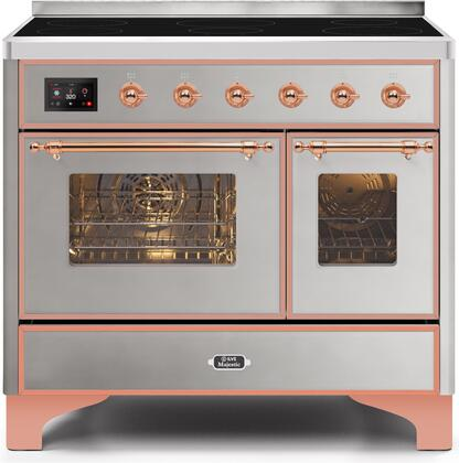 Ilve Majestic II UMDI10NS3SSP Freestanding Electric Range Stainless Steel, UMDI10NS3SSP Induction Range