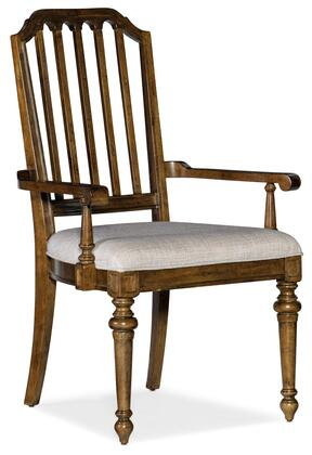 Hooker Furniture Ballantyne 58407540080 Dining Room Chair Beige, Silo Image