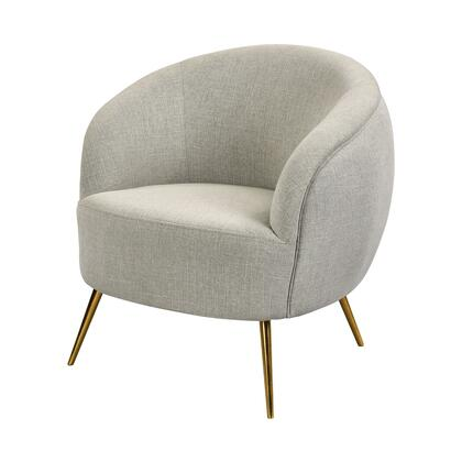 1204-101 Seeming Chair  In Grey Linen And