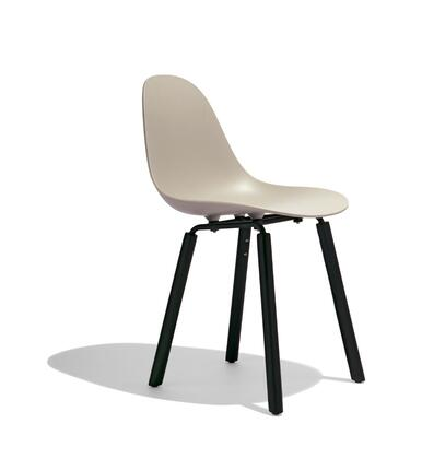 TA Collection TO-1711DG-1502B Upholstered Side Chair/Er Base Black Powder Coated/Dark Grey