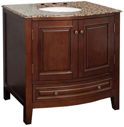 Bellaterra Home  602205 Sink Vanity Brown, Single Sink Vanity