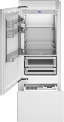 Bertazzoni REF30PRL Bottom Freezer Refrigerator Panel Ready, REF30PRL  Door Open