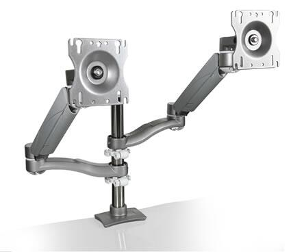 7920H Flat Screen Monitor Arm with 24″ Of Back and Forth Movement  Spring Loaded and Counterbalanced Arms Allow For 24″ Of Height