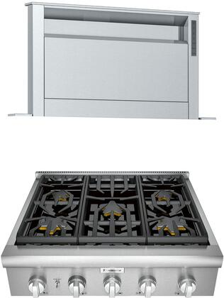 Thermador  1071359 Kitchen Appliance Package Stainless Steel, main image