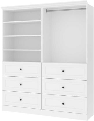 Bestar Furniture Versatile 4087217 Wardrobe White, Image 1