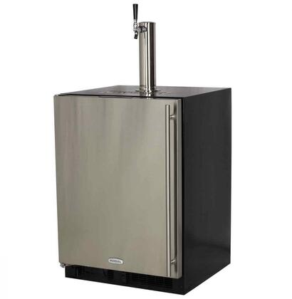 ML24BNS2LS 24″ Beer Dispenser with 5.7 cu. ft. Capacity  Dynamic Cooling Technology  Multifunction Marvel Intuit Integrated Controls and Close Door