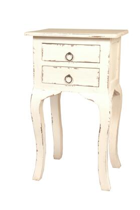 Sunset Trading Shabby Chic Cottage CCTAB1793LDAW Accent Table White, CC TAB1793LD AW