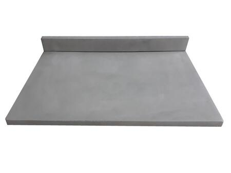 EB_NS3122LG 31-in x 22-in Concrete Counter Top with Back Splash (No Holes) – Light