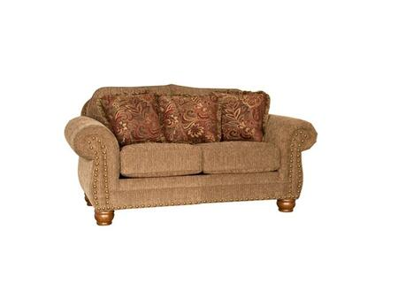 Chelsea Home Furniture Sturbridge 393180F30LLWB Loveseat Brown, 393180F30LLWB Front