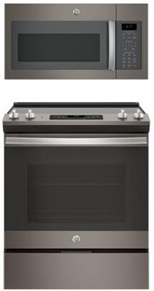 GE  845643 Kitchen Appliance Package Slate, 1