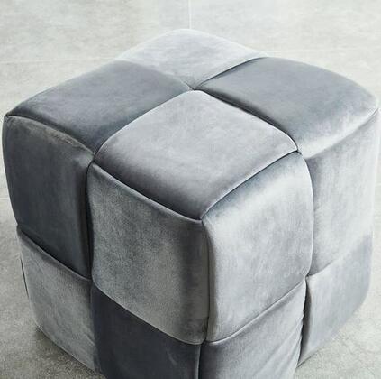 Furniture of America Estito CMOT5661GY Living Room Ottoman, Main Image