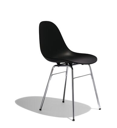 TA Collection TO-1711B-1502C Upholstered Side Chair/Er Base Chrome/Black