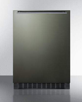 Summit  FF64BXKSHH Compact Refrigerator Black Stainless Steel, Main Image